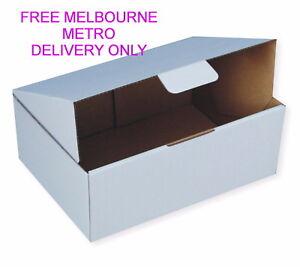 25x Diecut Mailing Box Bx2 310x225x102mm Mailer Boxes WHITE Postal Boxes