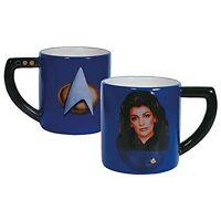Westland Giftware Star Trek Deanna Troi Mug Coffee Ceramic 16 oz. Blue Boxed