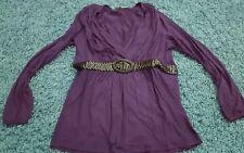 BODY FLIRT Damen Shirt Gr.40/42 lila Beere sexy mit v-ausschnitt neuwertig