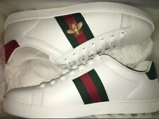 Men's Gucci Ace Embroidered Sneaker White Bee BRAND NEW Receipt**