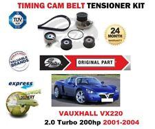 FOR VAUXHALL VX220 2.0 Turbo 200hp 2001-2004 GATES TIMING CAM BELT TENSIONER KIT