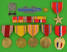 WWII Army Philippines Service Medals Ribbons, WW2Duck, CIB, Badge, Bronze Star