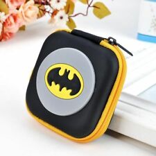 NEW Yellow Batman Kids Boys Rubber Coin Purse Wallet Headset Bag Gift