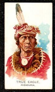 1888 ALLEN & GINTER CELEBRATED AMERICAN INDIAN CHIEFS CIGARETTE CARD TRUE EAGLE