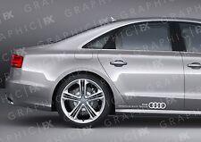 X2 PREMIUM AUDI Audi Vorsprung durch Technik logotipo Adhesivos Coche Carrocería