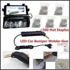 Universal LED 500 stapler Hot Stapler Plastic Repair Kit Car Bumper Welder Gun