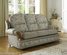 Beige Brown High Grade Fabric Material 3 Seater  + 2 Armchairs Sofa Suite CORDAN