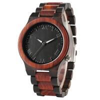 Nature Wooden Watch Novel Wood Wirstwatch Bracelet Clasp Wood Watches for Men
