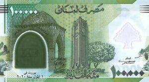 Lebanon 100.000 Livres 2020 100th year Anniversary s/n E000044400 Polymer