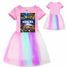 Cotton 2020 Roblox Summer Home Tops Dress Clothing Girl Birthday Party XMAS Gift