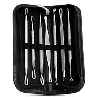 7x Blackhead Pimple Comedone Spot Acne Extractor Remover Kit Popper Tools