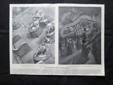 Biliardo olandese per signore - La ruota infernale Stampa del 1907