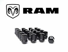 Black Lug Nuts 20pc RAM 1500 For RAM TRUCKS with Stock Wheels 20 Black Lugs 9/16