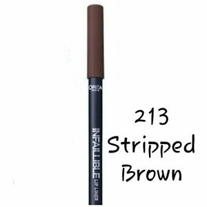 L'OREAL INFALLIBLE LIP LINER - STRIPPED BROWN 213