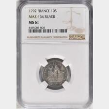 1792 France 10 Sols , NGC MS 61, Essai Token