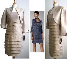 2PC Jessica Howard Gold Ivory Dress Suit Tahari Kasper style Sz6 NWT $130