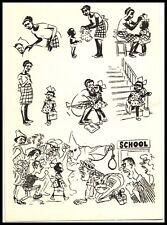 Original soviet anti-racist card 1964 First day school girl, Black Americana