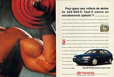 Publicité Advertising 1995  (Double page)  TOYOTA COROLLA
