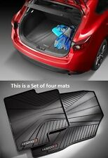 Mazda 3 (5-door)  Mazda Cargo Tray with  All-Weather Floor Mats 2014-2018