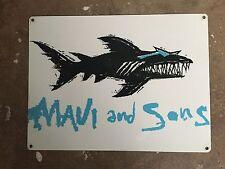 Maui and Sons Shark Week Sharknado Great White Jaws Teeth Poster Metal Sign Ca