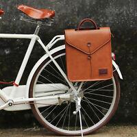 Tourbon Vintage Bike Bag Cycling Backpack Office School Shoulder Tote Bag Brown