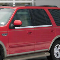 4Pc Window Sill Trim Accent Stainless Steel Overlay for 1997-02 Ford Expedition