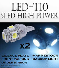 2 pairs T10 White 5 LED 5050 Chips Direct Plugin Auto Parking Lights Bulbs X199