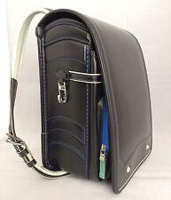 Black randoseru, Japanese school backpack, Japan import, good condition (S1082)