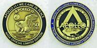 Apollo 11 50th Anniversary Medallion Contains Lunar Flown Command Module Metal
