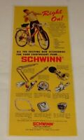 1971 SCHWINN bicycle accessories ad ~ Right On!