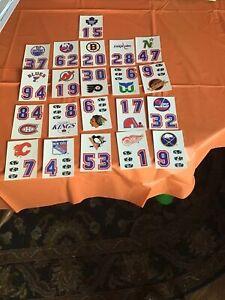 1 Sets 1987 Topps Sticker Hockey Helmet 21 Card Team Logos Lot .