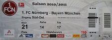TICKET 2010/11 1. FC Nürnberg - Bayern München