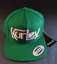 MENS HURLEY SNAPBACK GREEN/ORANGE HAT ADJUSTABLE CAP ONE SIZE