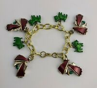 1960s costume jewellery Scottie DOG Charm Bracelet Unusual Vintage