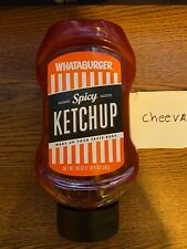 WHATABURGER Authentic Condiments 20oz Spicy Ketchup Squeeze Bottle)