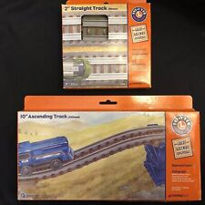 "Nib Lionel Great Railway Adventures 2"" Straight & 10"" ascending Track thomas"