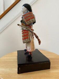Antique Japanese Samurai Warrior Armor  Sword Doll Statue Figure