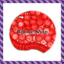 100 beads spacer coconut donut Red 15mm