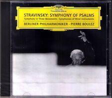 Pierre Boulez: Stravinsky Symphony of Salmo in 3 movents Symphonies of VENTO CD