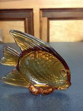 """ROYALES de CHAMPAGNE AMBER FISH   MEASURES 5"""" TALL AND 5 1/2"""" LENGTH"""