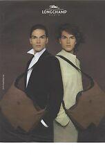 PUBLICITE ADVERTISING 2007   LONGCHAMP sacs pour hommes