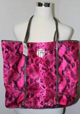 NEW Trina Rita Collection Snakeskin Print Pink Tote Bag
