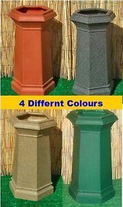 Chimney Pot Garden Planter 5 Colours Ornament Patio Flower Tub New
