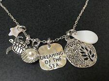 "Beach Surf Dream of Sea Turtle Sparkle Charm Tibetan Silver 18"" Necklace Mix D"