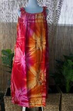 Plus Size Red Mix Tie Dye Maxi Dress Adjustable  Shoulders Size 16-18-20-22