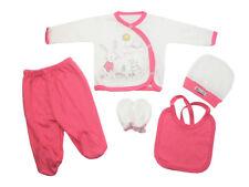 Bebitof Baby Erstausstattung Starter-Set Hase 5-tlg Bebek Cikis Seti Rosa
