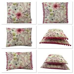 Hand made UK Decorative Floral Felicity cushion cover sham various styles &sizes