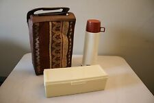 Vintage Thermos Picnic Set W/ Thermos, Bread Box and Carry All Bag