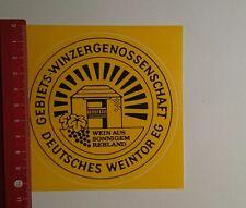 Aufkleber/Sticker: Deutsches Weintor EG Wein aus sonnigem Rebland (221116143)