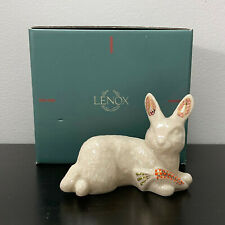 Lenox China Jewels Rabbits Bunny Snack Time with Carrot 1996 Box 4.5in Made Usa